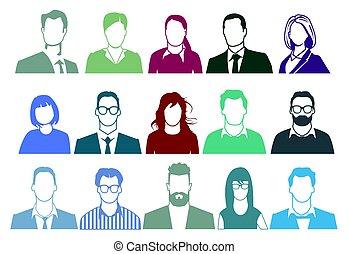 Personen- Potrait.eps - Group of people portrait...