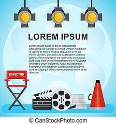 video production poster - Video production poster. Computer...