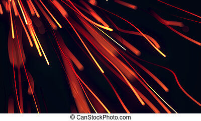magic waved and glowing lines, abstract background