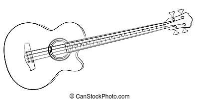 Sketch Bass guitar.