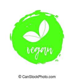 Vegetatian Label. Food intolerance symbols. Vector illustration