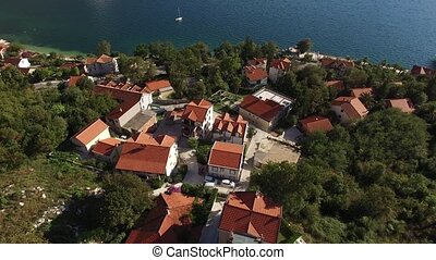 The villa in the mountains near the sea. Montenegro, Bay of...