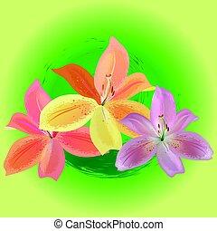 three lilies spa logo