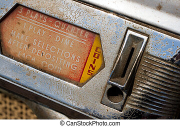 coin deposit - Vintage jukebox coin input