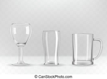 Set of glasses