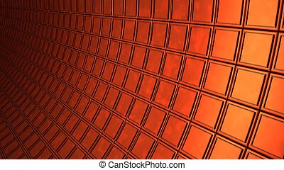 copper cubes wall background 3d render illustration