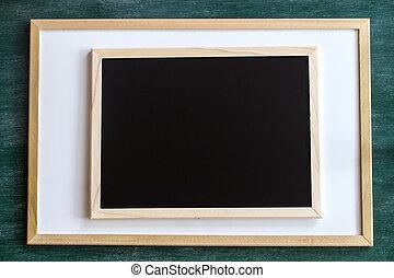 whiteboard blackboard and chalkboard