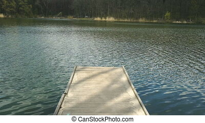 Pier on Lake without people
