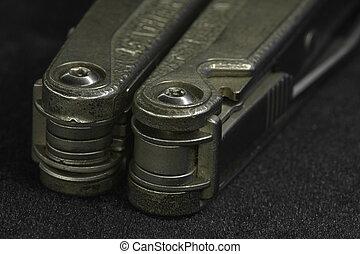 multitool Knife - multitool Steel knife macro shot