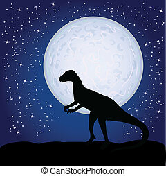dinosaur on the moon