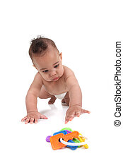 Infant little boy crawling towards the viewer - Baby infant...