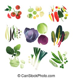 Clip art vegetable set 07 - Clip art vegetable collection of...
