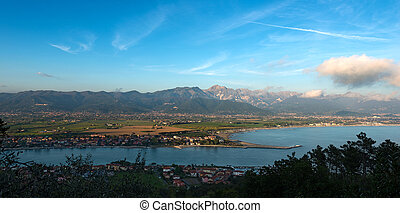Versilia Coast and Apuan Alps - Italy - Versilia Coast with...