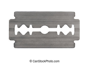 Razor blade - Macro of razor blade isolated on white...