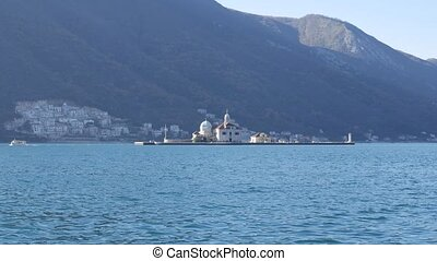 The island of Gospa od Skrpjela, Kotor Bay, Montenegro. -...