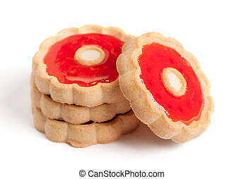 Cookies with red jam