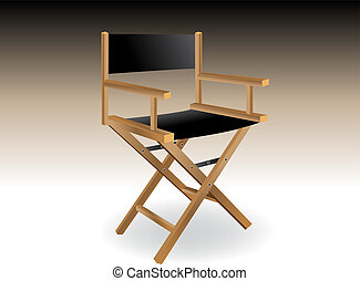 Director chair - Wooden foldable Director chair .