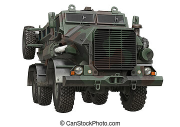 Truck military camouflaged car