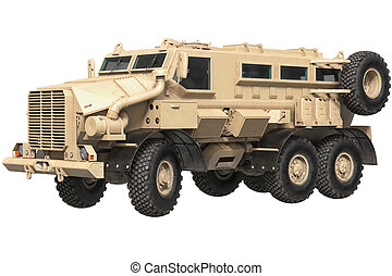 Truck military armored car