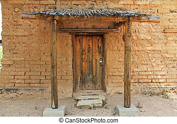 CCC Museum Door on La Posta Quemada Ranch in Colossal Cave...