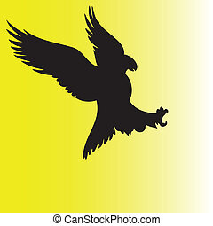 eagle action illustration vector silhouettes