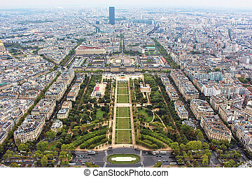 Panoramic view on paris city