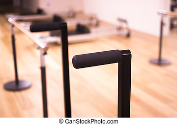 Pilates machine in gym - Pilates exercise training and...