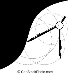 compass instrument illustration - creative design of compass...