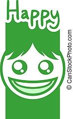 happy face design - creative design of happy face icon