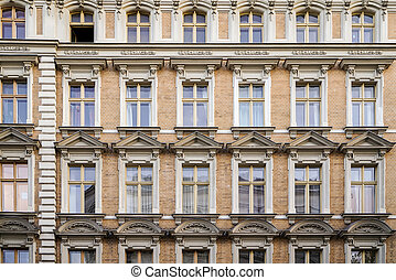 facade of a beautiful old house in Berlin Kreuzberg