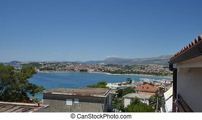 The coast of Split, Croatia. View from hotel terrace - The...