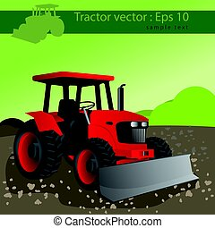 Agricultural tractor, transport for farm