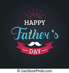 Vector Happy Fathers Day calligraphy for greeting card,...