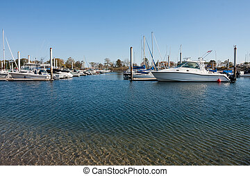 New England Marina - Marina in Westport, Connecticut on a...