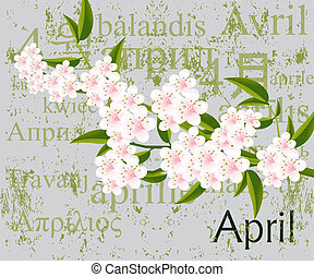 April - Calendar concept, simple to edit it, all the dates...