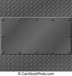 Metal Background - A Metal Background with Tread and Rivets