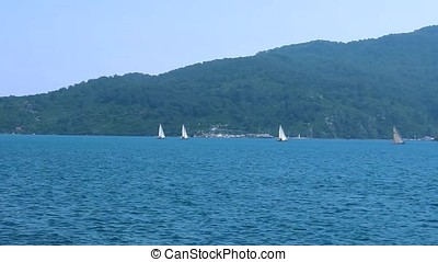 Sailboats in the Marmaris Bay