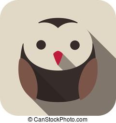 owl bird flat icon series