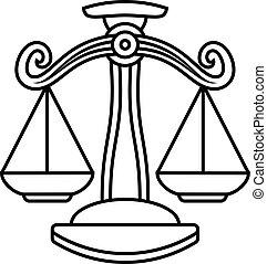 Libra Scales Zodiac Sign