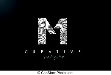 IM I M Letter Logo with Zebra Lines Texture Design Vector. -...