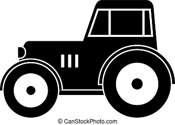 Tractor icon simple - Tractor icon in simple style isolated...