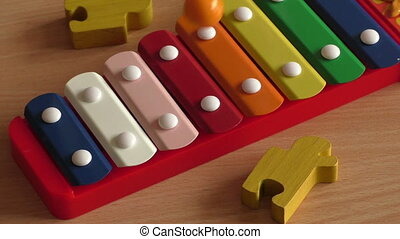 Rainbow colored toy xylophone - Xylophone toy in rainbow...