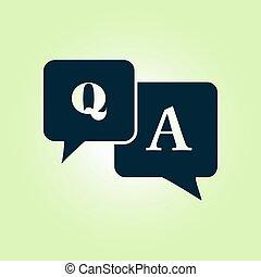 Q&A sign symbol.