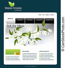Website Template, easy to use in adobe Photoshop, Flash or...