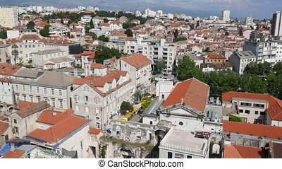 Old Town of Split, Croatia. Inside the city. Ancient...