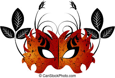 Mardi Gras, Masquerade Party Mask, vector file easy to edit