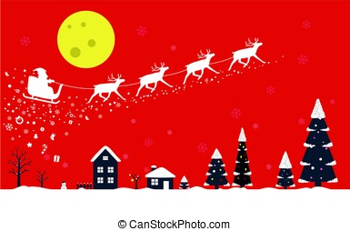 poster, geleider, auto,  Claus, groet, hertje, Ontwerp, kerstman, Kerstmis, kaart