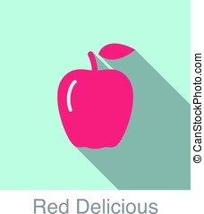 Red Delicious food and drink flat icon series