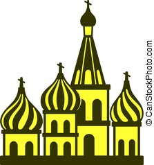 Kremlin silhouetta, famous landmark of the world