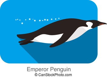 Emperor Penguin swimming in the water, Penguin seed series